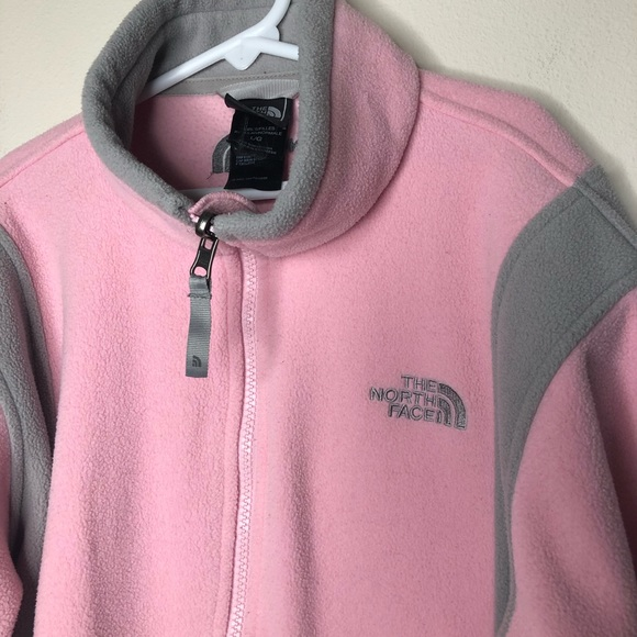 The North Face Other - pink/grey fleece zip North Face jacket girls L